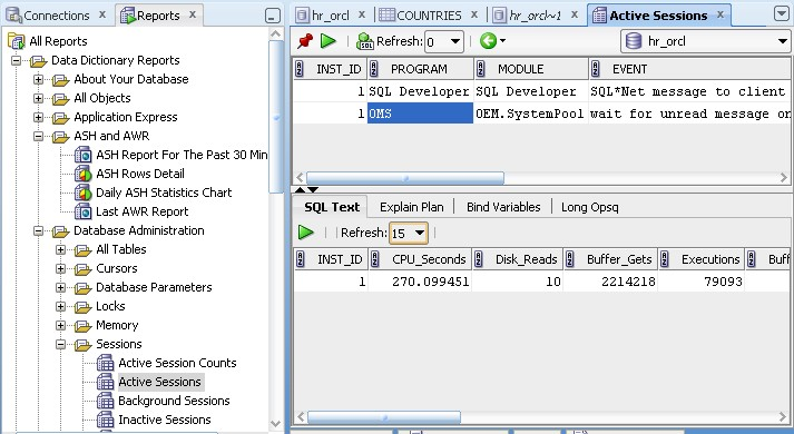 Oracle SQL Developer - Supplied and User Defined Reports