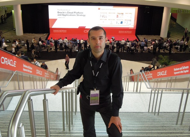 Kirill Loifman at Oracle Open World Conference 2012 in San Francisco