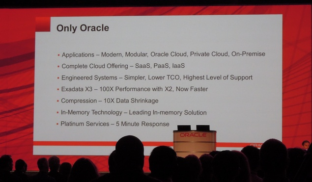 Oracle technology highlights at OpenWorld 2012