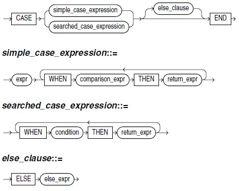 Oracle database SQL CASE expression