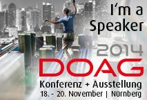 I'm a speaker at DOAG 2014
